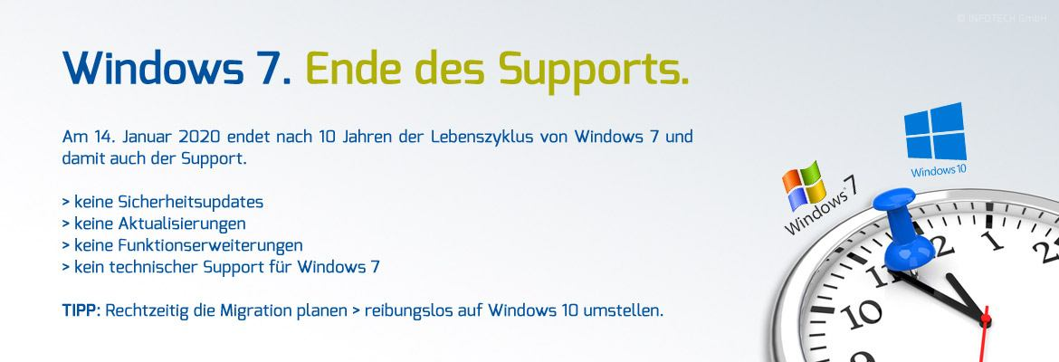Windows 7 - Ende des Supports